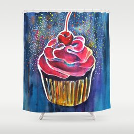 Rainbow Cupcake Shower Curtain