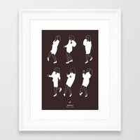 seinfeld Framed Art Prints featuring Seinfeld by Niege Borges