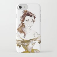 belle iPhone & iPod Cases featuring Belle by waterandinkprints