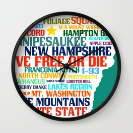 New Hampshire Native Wall Clock