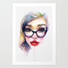 Librarian Girl Art Print