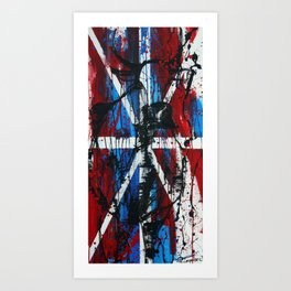 Union Jack British Cow Art Print