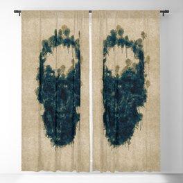 Ink Skull Blackout Curtain