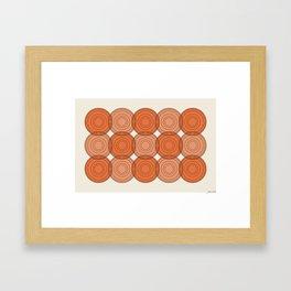 Red & Orange Circles Framed Art Print
