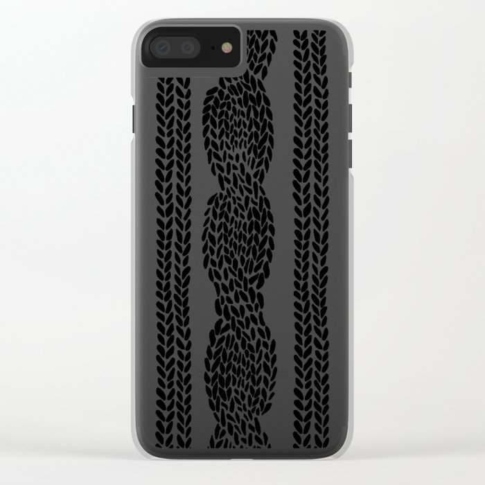 Cable Row Clear iPhone Case