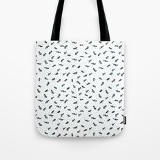 twigs & dots turquoise Tote Bag