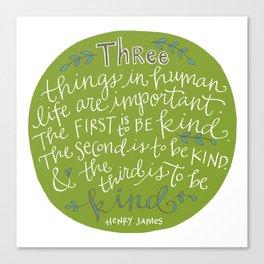 Kindness Canvas Print