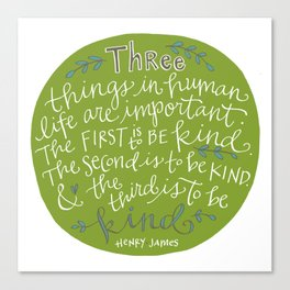 Kindness Canvas Print