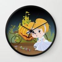 cinderella Wall Clocks featuring Cinderella by 7pk2 online