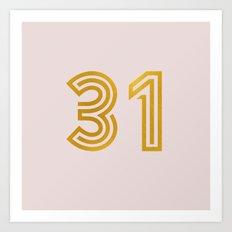 #31 (Pink) Art Print