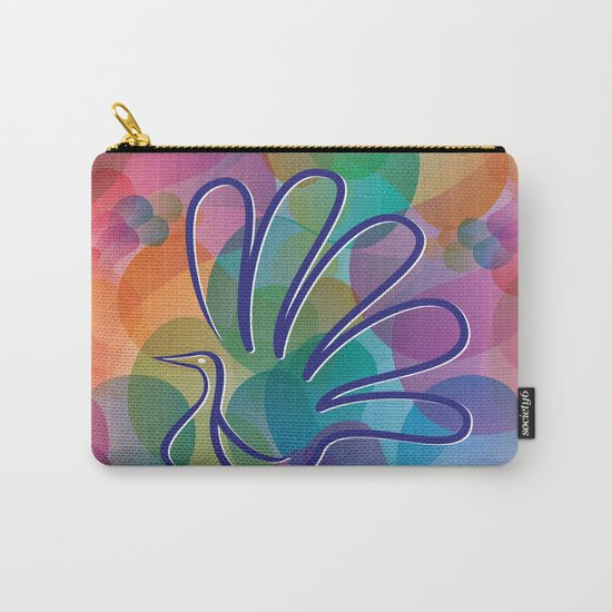 Peacock - Five-finger gloves Carry-All Pouch