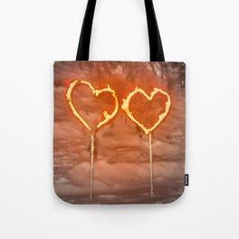 Burning hearts Tote Bag