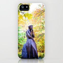Eleanor Roosevelt Statue in Riverside Park iPhone Case