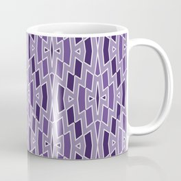 Fragmented Diamond Pattern in Violet Coffee Mug