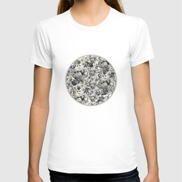 FLORAL Black and white // LIFE OF FLOWERS T-shirt