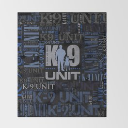 K-9 Unit  -Police Dog Unit Throw Blanket