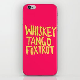 Whiskey Tango Foxtrot - Color Edition iPhone Skin