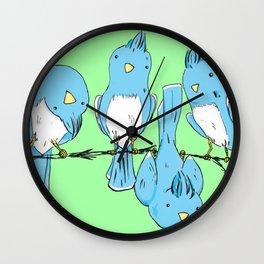 dem birds Wall Clock
