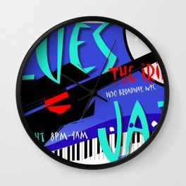 Modernist Blues / Jazz venue poster Wall Clock