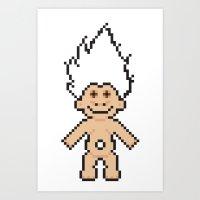 8bit Art Prints featuring 8bit troll by John Trivelli