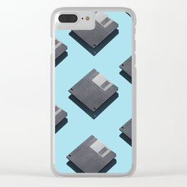 Floppy disks Clear iPhone Case