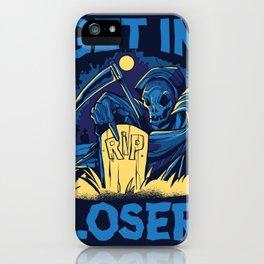 funny grim reaper  iPhone Case