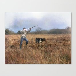 Out for a shot Canvas Print
