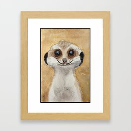 Meerkat 'Stache Framed Art Print