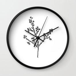 Wildflower in the Meadow Wall Clock