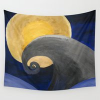 nightmare Wall Tapestries featuring Nightmare by Shelly Lukas Art