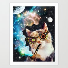 High Cat Art Print