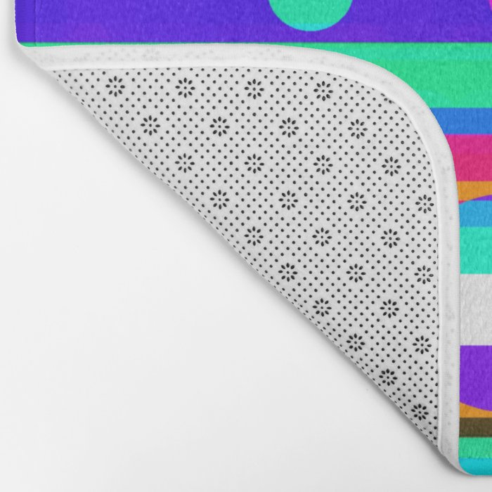 Re-Created Intersection IV by Robert S. Lee Bath Mat