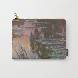 Water Lilies - Setting Sun by Claude Monet Carry-All Pouch