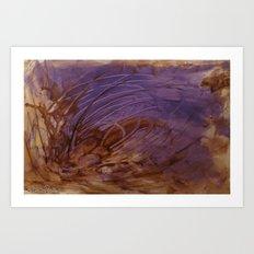Brown Earth Purple Sea Art Print