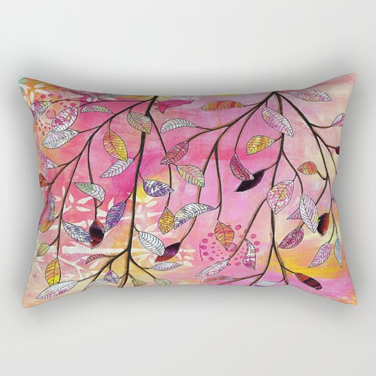 branch triptych No. 2 Rectangular Pillow
