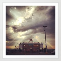 friday night lights Art Prints featuring Friday Night Lights by Annie Langseth
