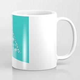 Christmas Tree Made Of Snowflakes On Jade Background Coffee Mug