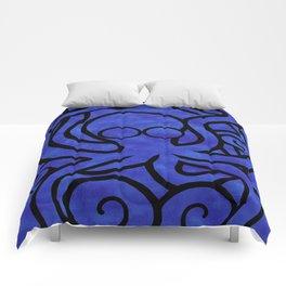 Octo-Doodle-Pus Blue Comforters