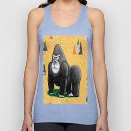 Endangered Rainforest Mountain Gorilla Unisex Tank Top