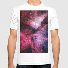 Carina Nebula White SMALL Mens Fitted Tee