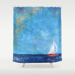 Nainy's Boat Shower Curtain