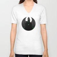 danny ivan V-neck T-shirts featuring Ivan Dyatlov by Oblivion Creative