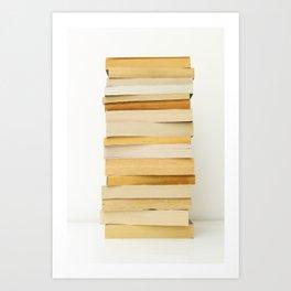Stack of paperback books Art Print