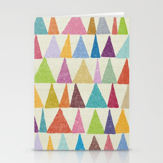 Analogous Shapes In Bloom. Stationery Cards