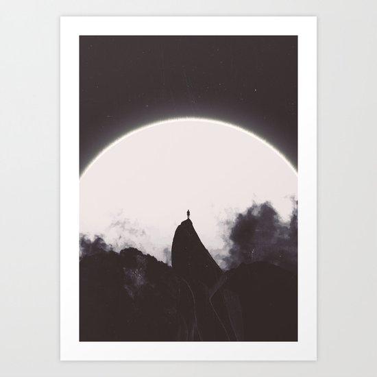Abaddon Black & White Art Print