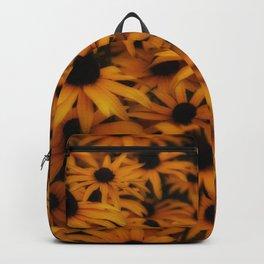 Black-Eyed Susan, yellow autumn daisy Backpack