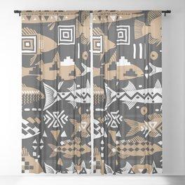 Boho Fishes II. Sheer Curtain