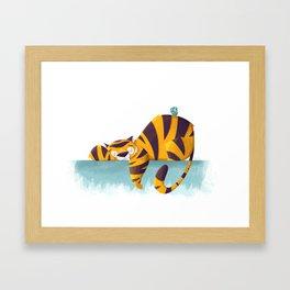 Sleeping Tiger Framed Art Print