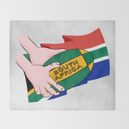 South Africa Rugby Throw Blanket