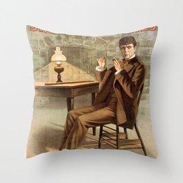 Sherlock Holmes vintage poster art Throw Pillow